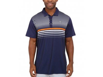 Puma Surface Stripe pánské golfové tričko tmavomodré
