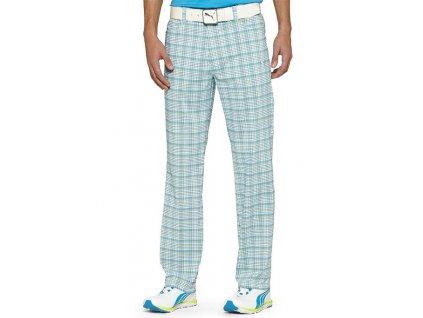 Puma pánské golfové kalhoty s kostkami aqua