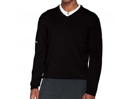 Callaway vlněný pánský golfový svetr antracitový
