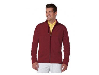 Pánská golfová bunda do větru a deště Callaway vínová