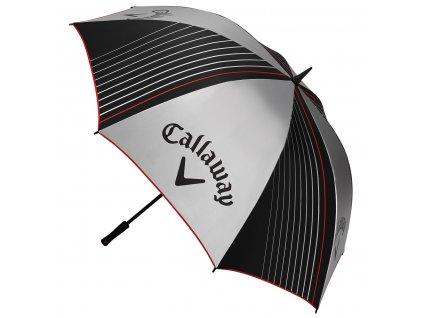 """Callaway golfový deštník s UV 64""""  stříbrno/černý"""