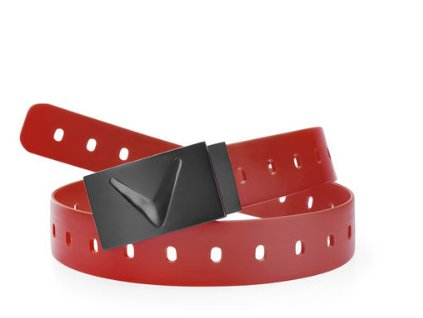 Matte rubber belt red