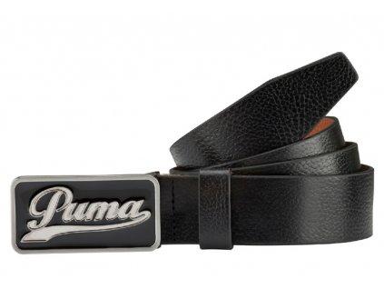 Puma Script CTL kožený pásek černý s retro logem