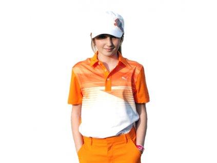 Puma junior golfové tričko oranžové