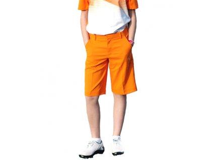 Puma junior golfové kraťasy oranžové