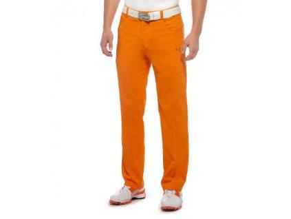 Puma Junior 5 Pocket Pant - juniorské golfové kalhoty oranžové