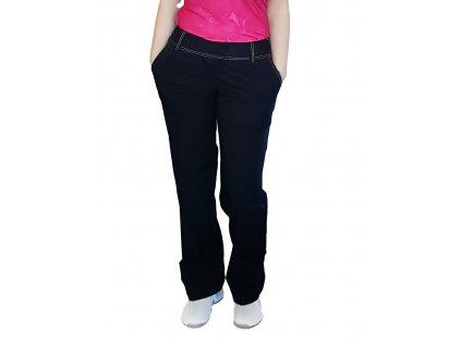 Dámské golfové kalhoty Adidas černé s bílým prošíváním