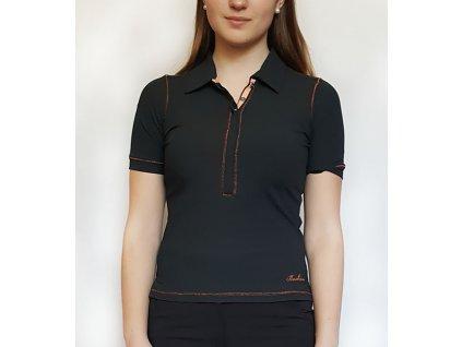 BackTee golfové tričko MERYL - černé