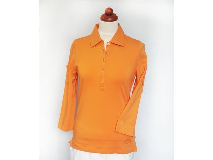 CW polo 3 4 rukav oranzove