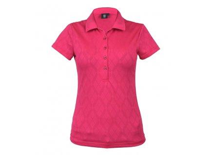 Tony Trevis dámské golfové tričko růžové s kosočtverci