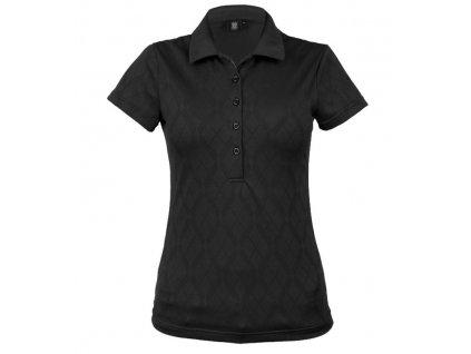 Tony Trevis dámské golfové tričko černé s kosočtverci