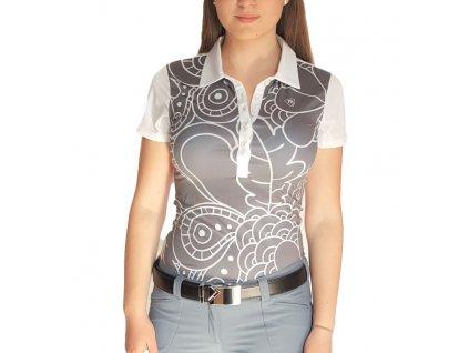 Tony Trevis dámské golfové tričko šedo/bílé