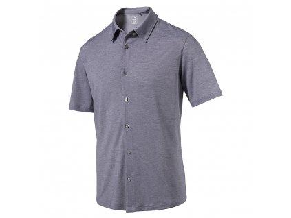 Puma Knit pánská golfová polokošile tmavomodrá