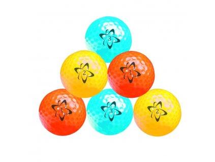 Longridge Atomic HI-VIS neon golfové míčky 6 ks