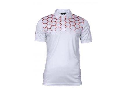 Pánské golfové tričko bílé s červenými dimply Tony Trevis