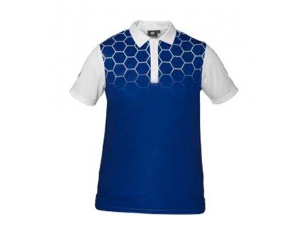 Pánské golfové tričko modré s dimply Tony Trevis