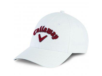 Callaway Heritage pánská golfová čepice bílá/čevené logo