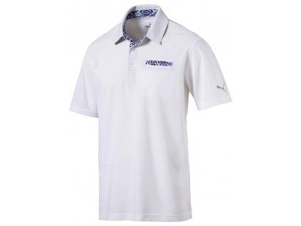 Puma Aloha pánské golfové tričko bílé