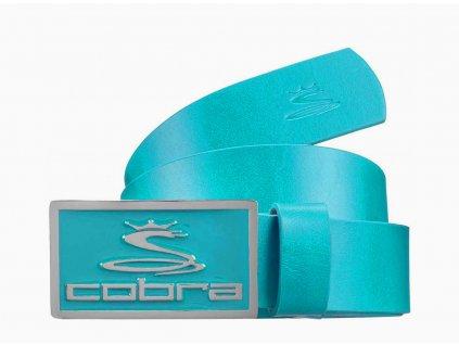 Cobra Enamel Fitted pánský kožený golfový pásek modrý
