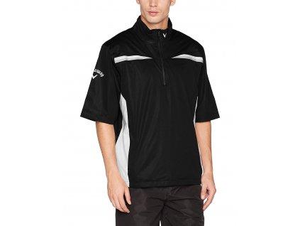 Calaway 1/4 Zip pánská golfová bunda do deště černá