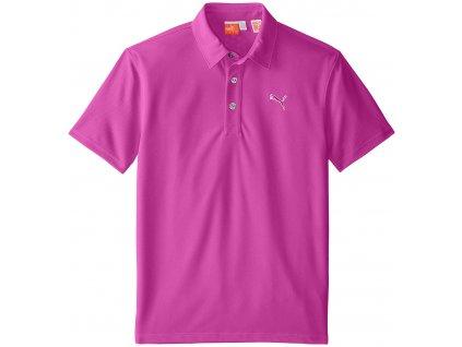 Puma Tech juniorské golfové tričko fialové