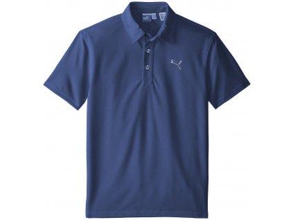 Puma Tech juniorské golfové tričko tmavě modré