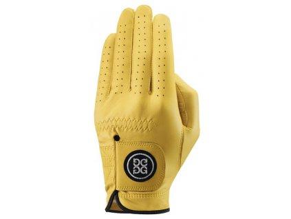 Dolce Gabana luxusní dámská kožená golfová rukavice žlutá LEVÁ L
