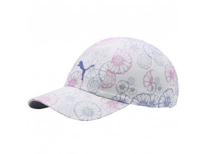 Puma Daily dámská golfová čepice bílá s květy