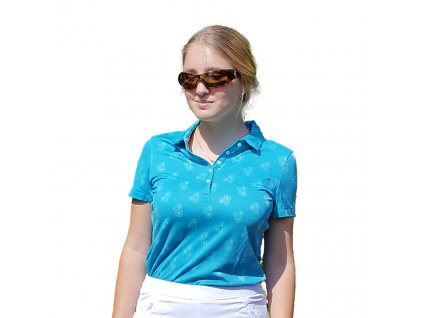 Puma Burst Into Bloom dámské golfové tričko modré