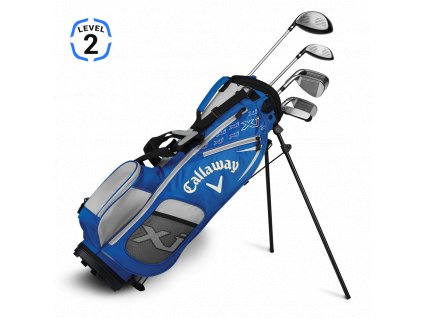 Callaway XJ Junior level 2 - juniorský golfový set modrý RH