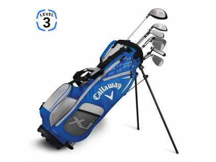 Callaway XJ Junior level 3 - juniorský golfový set modrý RH
