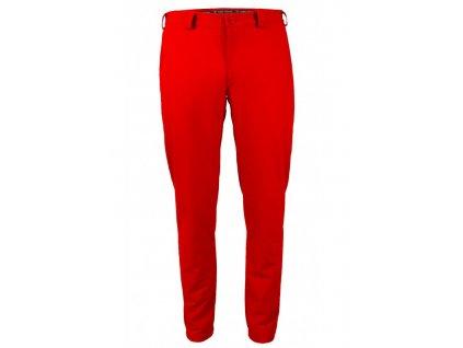 Tony Trevis pánské goflové kalhoty SlimFit červené