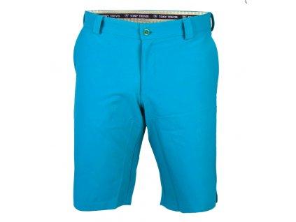 Tony Trevis pánské golfové kraťasy SlimFit světle modrépanske sortky modre