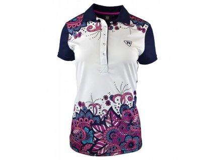 Tony Trevis dámské golfové tričko bílé s motivem květů