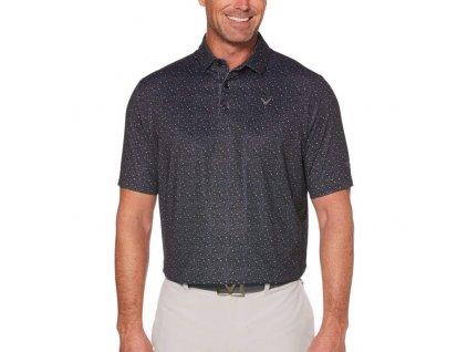 Callaway pánské golfové tričko Mini Textured Prin antracit
