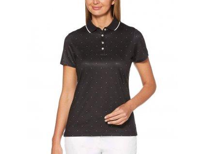 Callaway dámské golfové tričko All Over Chevron černédamske chevron polo