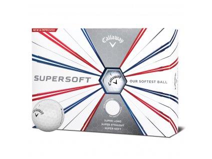 Callaway Supersoft golfové míče bílé 12 ks
