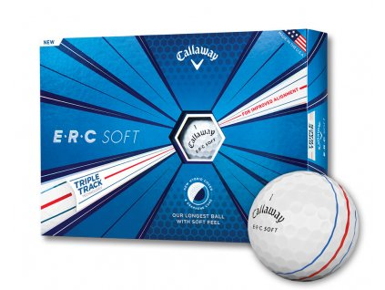 Callaway ERC SOFT golfové míčky bílé s pruhy 12ks