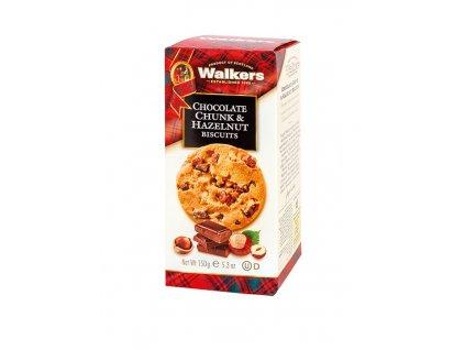 Walkers máslové sušenky - kolečka s lískovými ořišky a čokoládou 150g