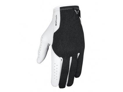 Callaway pánská golfová rukavice X-spann černo/bílá