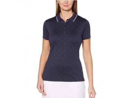 Callaway dámské golfové tričko All Over Chevron tm. modré