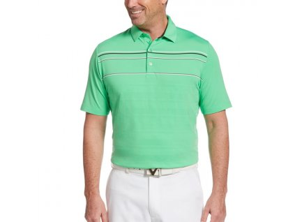 Callaway pánské golfové tričko Irish green s pruhy