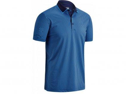 Callaway pánské golfové tričko modré šupiny