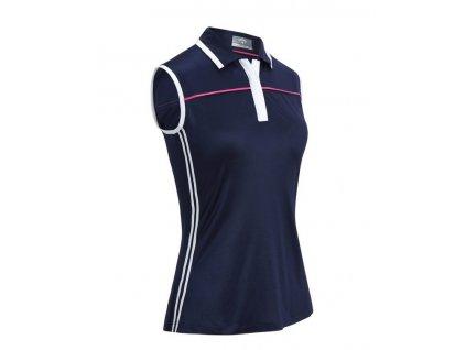 Callaway dámské golfové tričko Color Block bez rukávů tm. modré