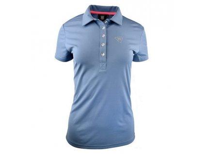 Tony Trevis dámské golfové tričko Swarovski elements - šedé