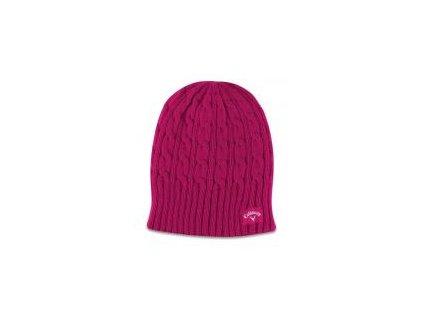 Callaway dámská pletená čepice - pink