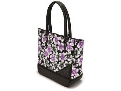 Callaway UpTown Tote designová taška černá s květy