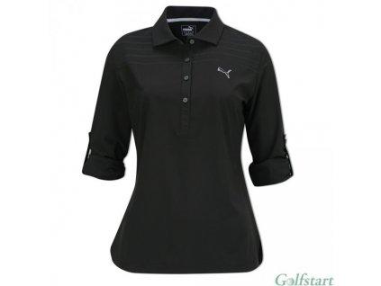 Puma Sport Woven dámské golfové tričko s dlouhým rukávem černé