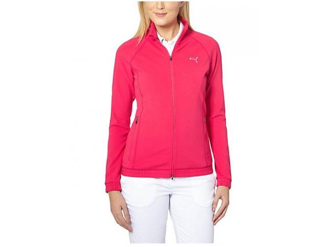 Puma Track Jacket dámská golfová mikina růžová