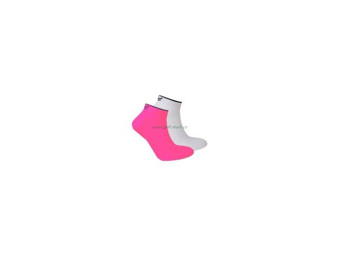Dámské golfové ponožky Röhnish 2ks bílá/pink